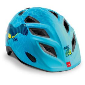 MET Genio Helmet Kids, blue dinosaurs glossy